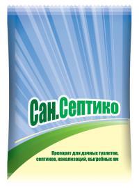 Сан.Септико для дачных туалетов, септиков, канализаций, выгребных ям 400см3
