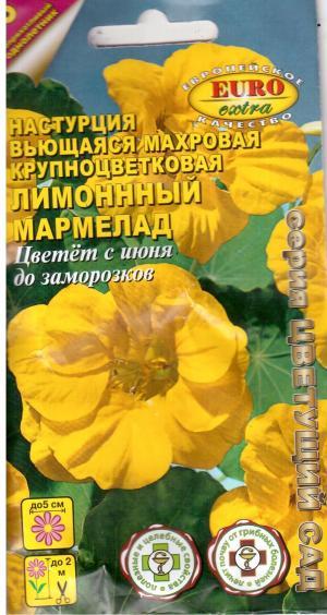 Настурция Лимонный мармелад, крупн.махр. 1 гр.