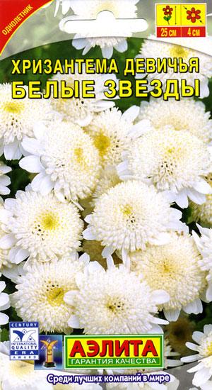 Хризантема Белые звезды девичья 0,1 гр.