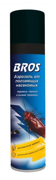 Аэрозоль BROS от ползающих насекомых 400мл.