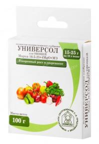Универсол Овощи 16-5-25+3,4MgО+мэ 100 гр.