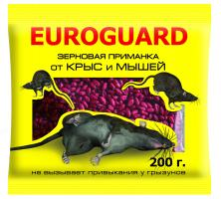 Зерно EUROGUARD от крыс и мышей 200гр. пр-во Италия