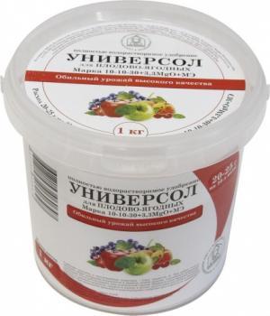Универсол Плодово-ягодный 10-10-30+3,3MgО+мэ 1 кг.