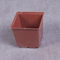 Горшок для рассады 6*5,5 квадрат коричневый 0,15 л.