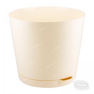 Горшок 4 литра Easy Grow Сливочный с прикорневым поливом диаметр 200 мм.  (ING47020СЛВ)