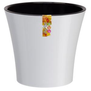 Горшок Арте 2 литра белый-черный