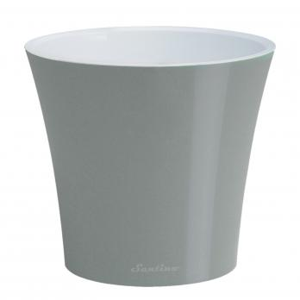 Горшок Арте 2 литра металлик-белый