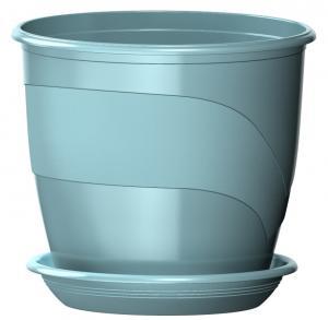 Горшок Венеция  диаметр 19 см.  3,1 литра  мята с поддоном  (5PL0093)