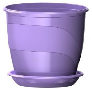 Горшок Венеция  диаметр 21 см.  4,1 литра  лаванда с поддоном  (5PL0099)