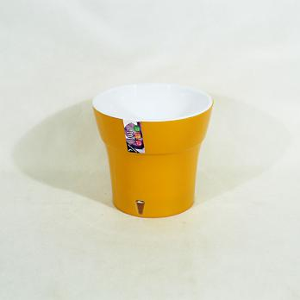 Горшок Дали 0,6 литра карамель-белый