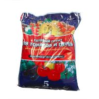 Грунт Для томатов и перцев 5 литров.