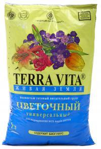 Грунт Живая земля цветочная 10 литров.