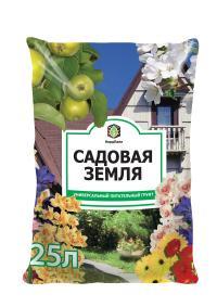 Грунт Садовая земля 5 литров.