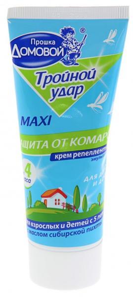 Крем Домовой от комаров Тройной Удар с маслом пихты 75мл.
