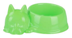 """Миска для кошек """"Барсик"""" 0,5 л. (зеленый) (М6940)"""