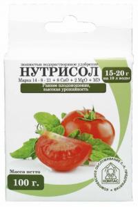 Нутрисол для томата (14-8-21-8 CaO+2 Мg+микроэлементы) 100 гр.